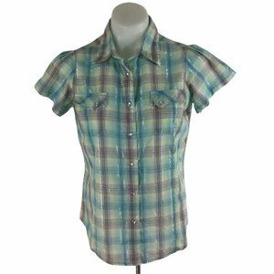 Wrancher Wrangler Western Pearl Snap Shirt Plaid